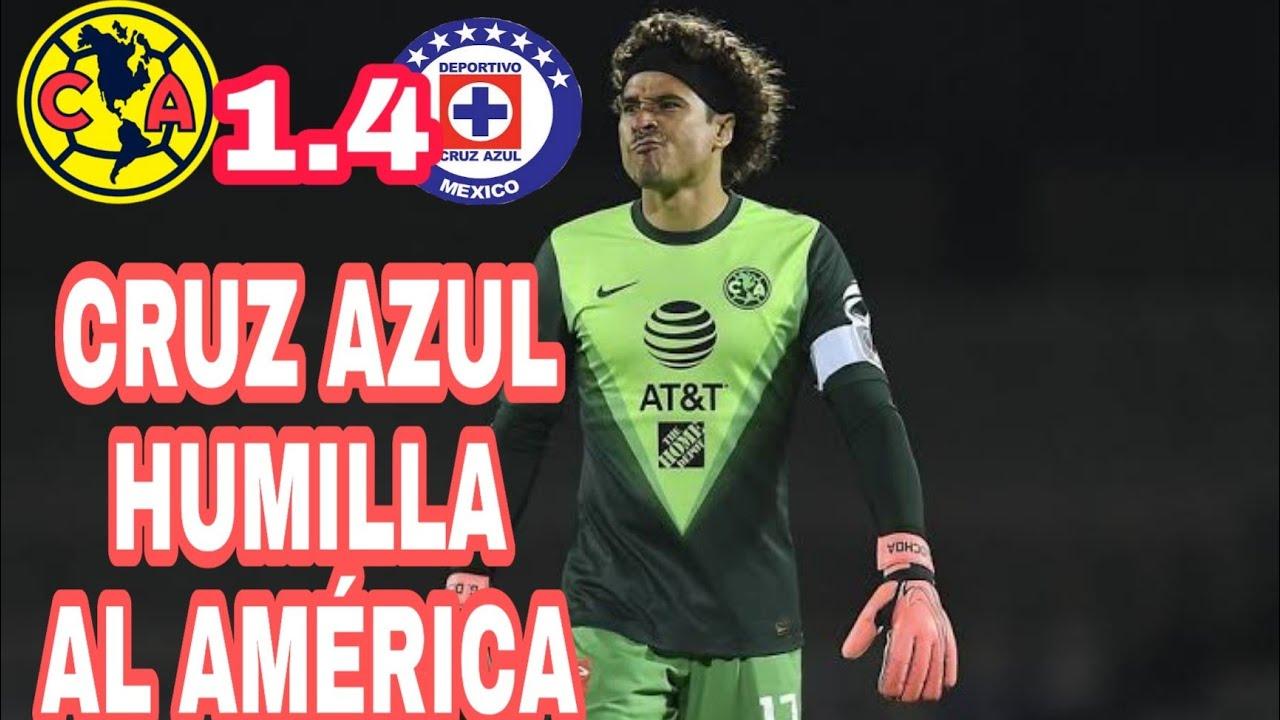 CRUZ AZUL HUMILLA AL AMÉRICA, SE VA MIGUEL HERRERA