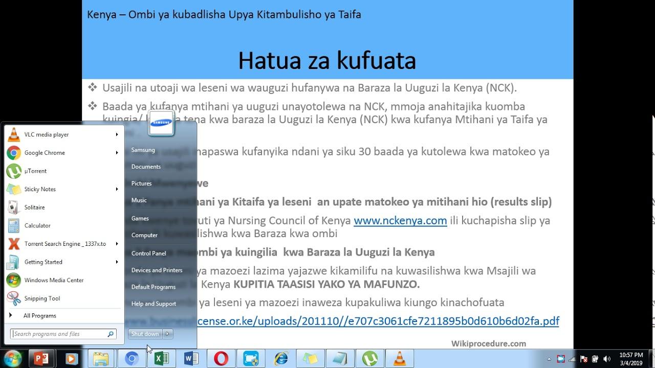 Kenya - Apply for Registration and Licensing to Practice Nursing