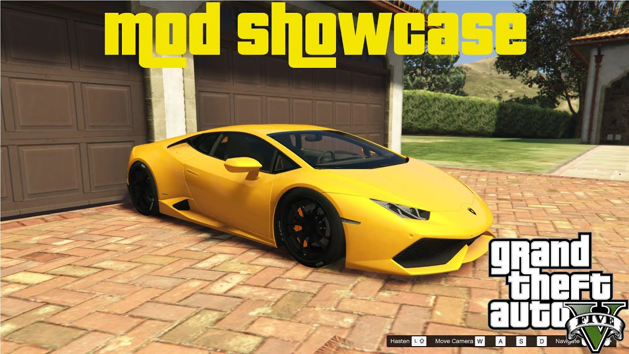 lamborghini huracan gta 5 mod showcase youtube. Black Bedroom Furniture Sets. Home Design Ideas