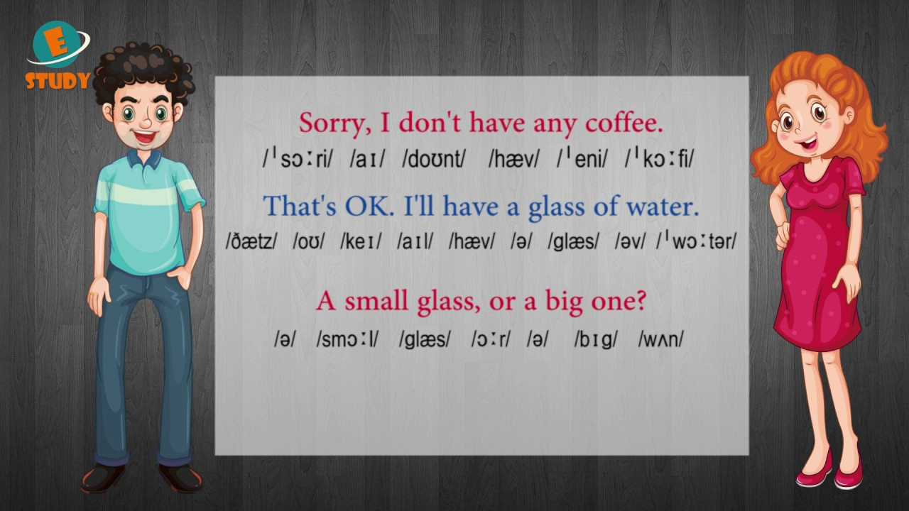 English conversation for beginners - Lesson 6: Do you want something to drink?