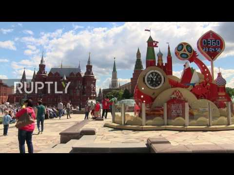 Russia: Red Square becomes plaza roja as Chile fans flood Moscow