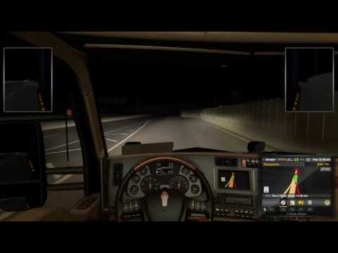 American Truck Simulator: Carson City NV to Oakdale CA, Donner Pass!