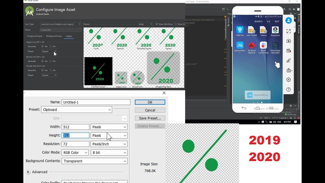 How To Set Icon In Android Studio Project And How To Create