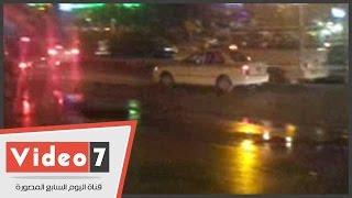 بالفيديو.. الإهمال يغرق شارع جامعة الدول العربية بالمياه العذبة