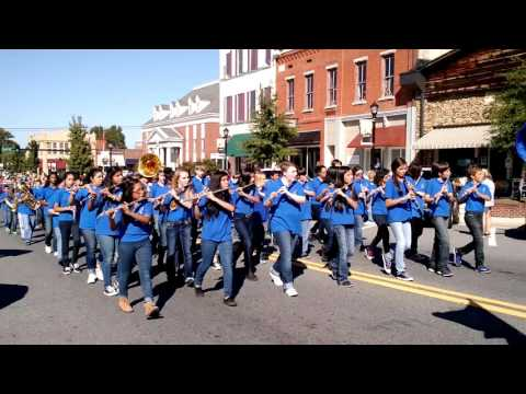Ashworth Middle School Band marching in homecoming parade 2015