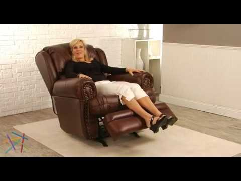 catnapper deluxe buckingham brown leather rocker recliner product review video youtube - Catnapper Recliner
