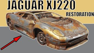 Restoration Abandoned Jaguar XJ220 Model Car