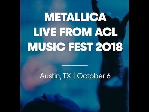 Metallica to live-stream full show at Austin City Limits Music Festival' Austin, TX Oct 6th.