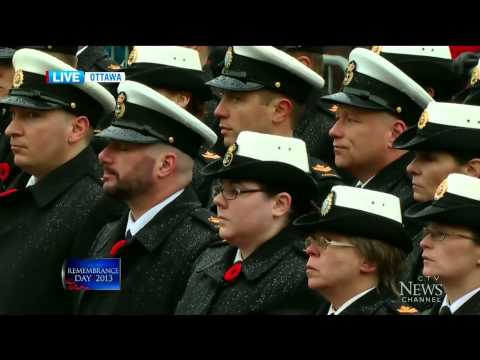(2/3) Remembrance Day 2013 Ceremony in Ottawa