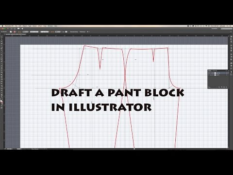 How to draft a pair of slacks (pants) using adobe illustrator | digitize sewing patterns