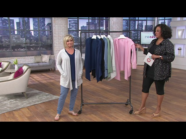 Cuddl Duds Ultra Soft Comfort Drape Front Hooded Cardigan on QVC