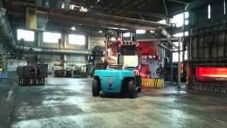 Работа погрузчика Konecranes SMV16-1200B в литейном цехе