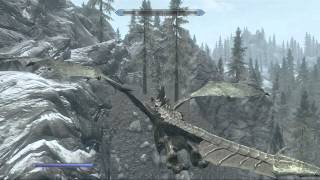 Skyrim Dragonborn: First Time Flying A Dragon: HUGE LET DOWN!