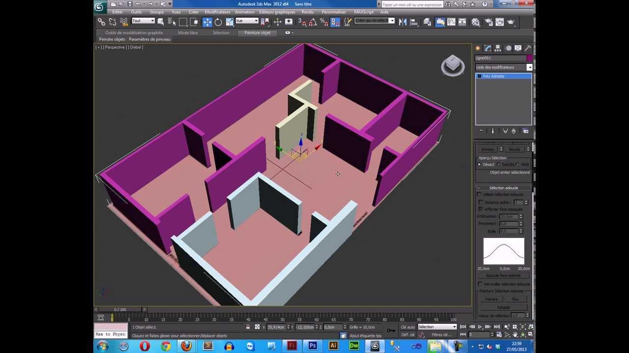 Plan Maison Sur 3ds Max Plan Modeling Youtube