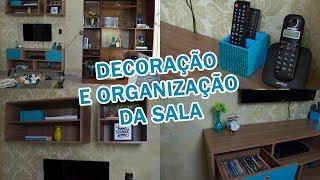 DIY - Ideias FÁCEIS e BARATAS para decorar e organizar a sala - TRANSFORMAÇÃO DA SALA #2