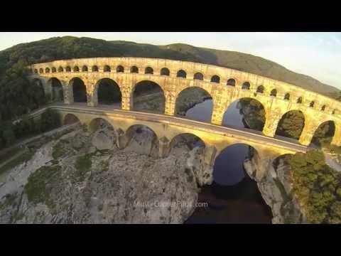Pont du Gard - Roman Aqueduct bridge - FPV Scarab Vampire