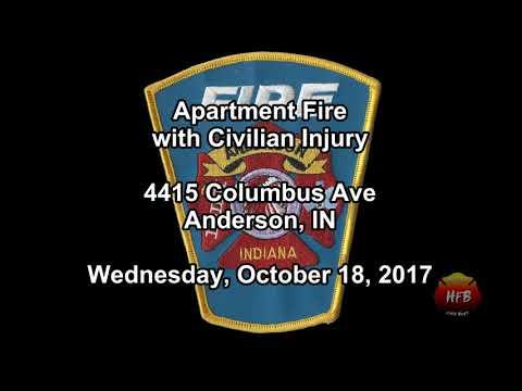 Apartment Fire w/ Civilian Injury