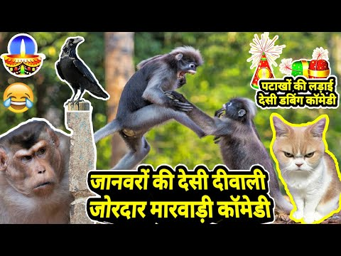 जानवरों की दीवाली | Best Funny Animal Talking Marwadi Comedy | Diwali 2020 Special Marwadi Dubbing