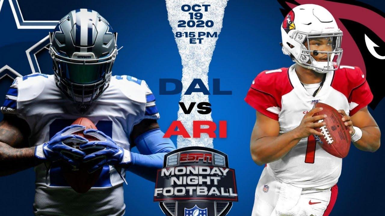 ✭Dallas Cowboys vs Arizona Cardinals Monday Night Football || Play by Play & Reactions