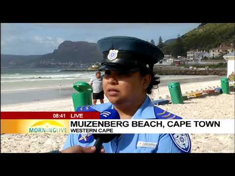 Poonah updates on safety at Muizenberg beach on new year day