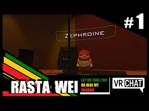 VR Chat - Rasta Knuckles Sings and Plays the guitar [#1]