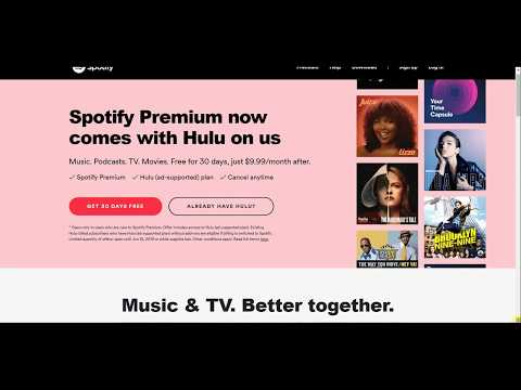 Spotify Premium Now Includes Hulu (ad-supported) Plan for $9.99 a Month Mp3