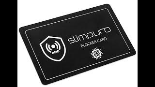 slimpuro RFID Blocker Karte - Störsender - Eine Karte schützt die Geldbörse