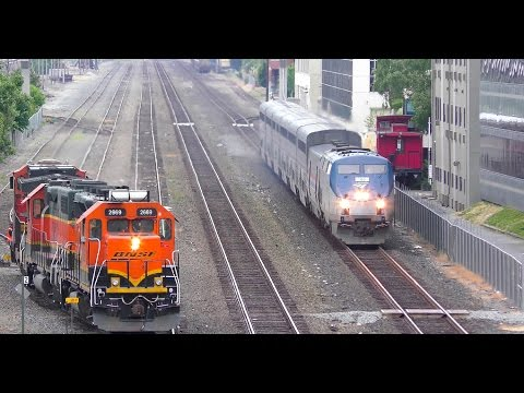North Portal, Seattle. BNSF, Cascades, Empire Builder, and Gossip! 4K