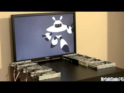 MM9  Galaxy Man on Eight Floppy Drives