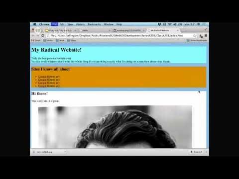 Front-end Web Development: CSS floats