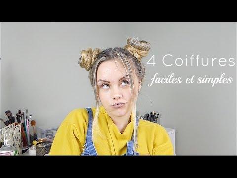 4 Coiffures Faciles Et Simples Cheveux Longs Et Mi Longs Pour Lycée Et Collège