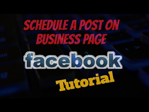 Tutorial - Schedule Post on FB Business Page thumbnail