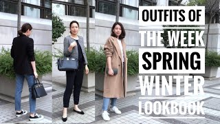 OUTFITS OF THE WEEK | SPRING WINTER FASHION LOOKBOOK