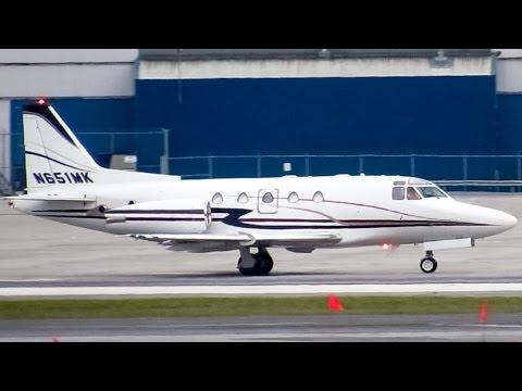 Private Sabre 65 (SBR1) landing & departing Montreal (YUL/CYUL)