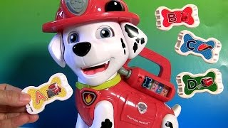 Learn Colors with Paw Patrol Treat Time Marshall Learn ABC Alphabet Songs with Talking Marshall pup