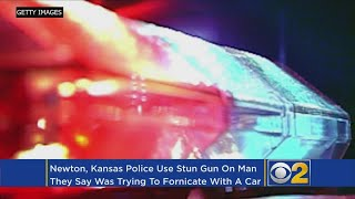 Police Use Stun Gun On Man Attempting To Have Sex With Car