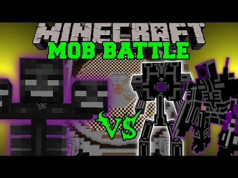 WITHER VS TONS OF MOBS - Minecraft Mob Battles - Mods