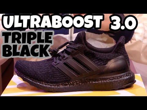 Adidas Ultra Boost Triple Black 3.0 Review Recensione ITA - YouTube 8b16c63492e
