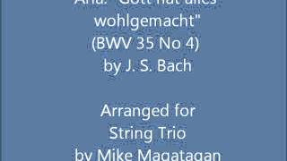 "Aria: ""Gott hat alles wohlgemacht"" (BWV 35 No 4) for String Trio"