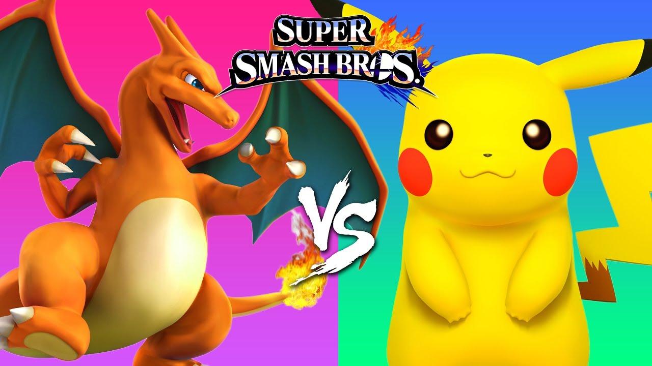Pikachu Images: Pokemon Cartoon Pikachu Versus Charizard