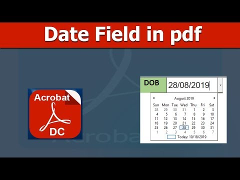 How To Create Date Field In Fillable Pdf Form Using Adobe Acrobat Pro Dc