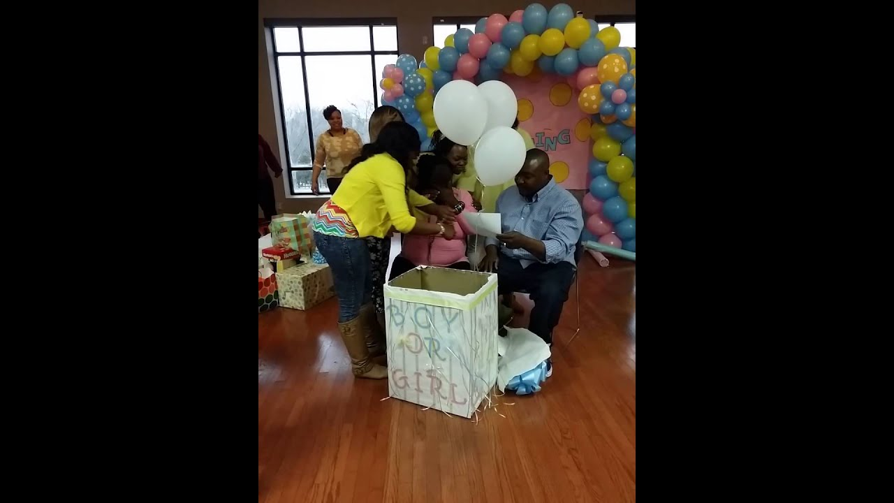 Best Gender Reveal Idea For A Baby Shower   YouTube