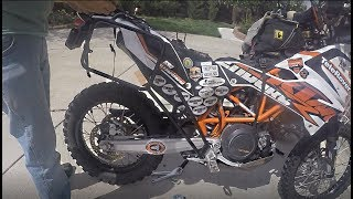 KTM 690 KTM/Touratech Pannier/Luggage Rack Install