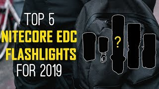 Gambar cover Top 5 NITECORE EDC Flashlights for 2019 - Best Everyday Carry Flashlights