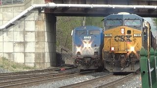 Railfanning CSX & Amtrak On National Train Day 2014 - Palmer, MA