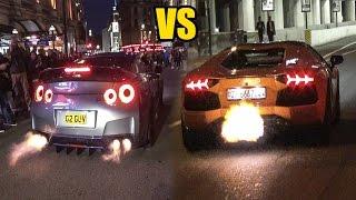 Nissan GT-R R35 VS Lamborghini Aventador - SOUND BATTLE!🔥