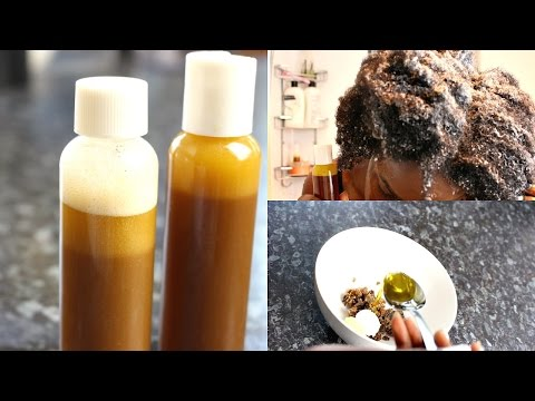 DIY Homemade Natural Liquid Moisturizing Shampoo | With African Black Soap