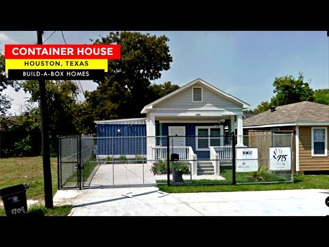 Build-A-Box Homes: 1709 Dan St. Container House in Houston, TX.