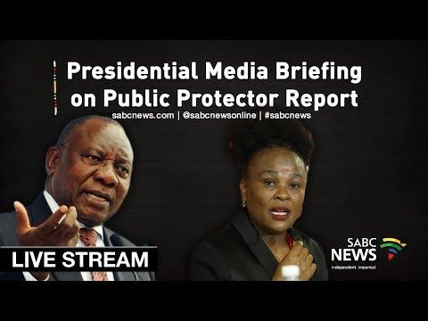 Presidential media briefing on Mkhwebane's report, 21 July 2019