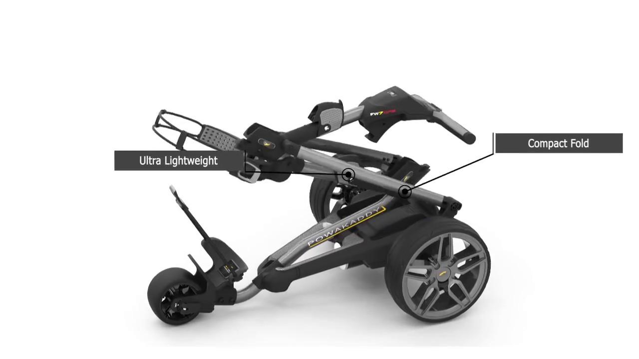 Powakaddy FW 7 Electric Trolley | Motogolf com